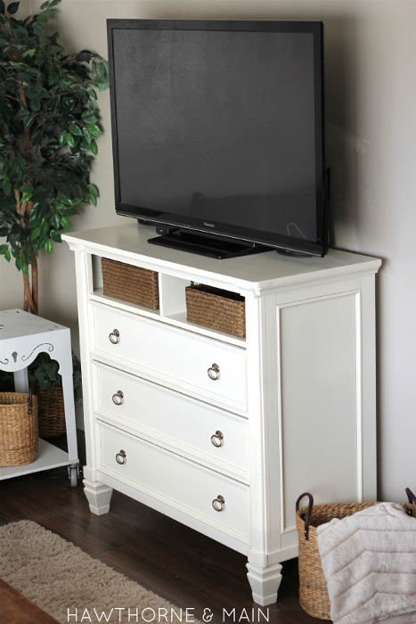 Beautiful TV Console Table Makeover