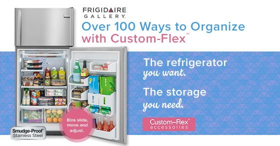 Frigidaire Gallery Custom-Flex Refrigerator, you fit right in!