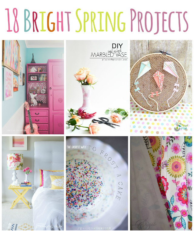 18 Bright Spring Projects! Great way to bring some color into Spring!