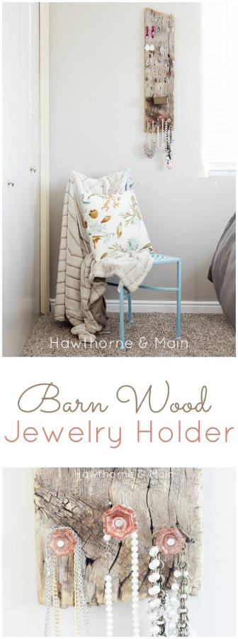 Barn Wood Jewelry Holder