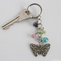 Beautiful DIY Butterfly Beaded Keychain!