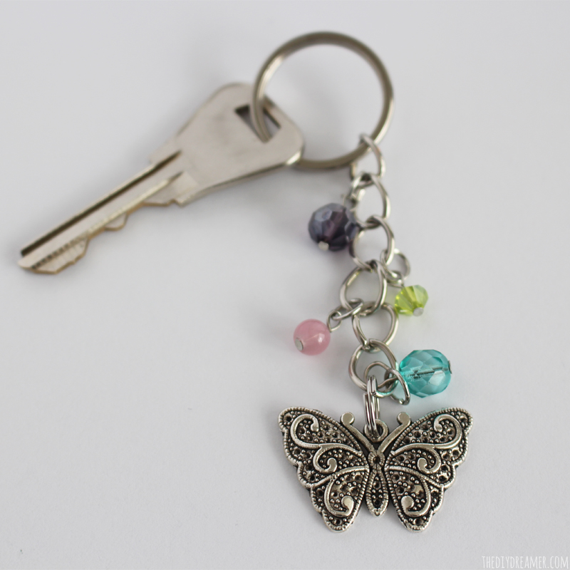 Beautiful DIY Butterfly Beaded Keychain!