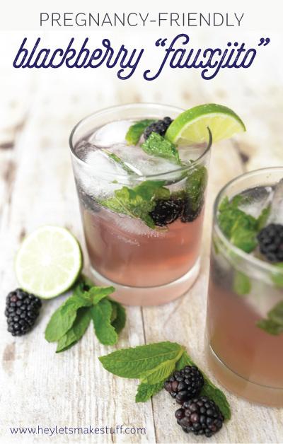Blackberry Fauxjito, pregnancy friendly drink!