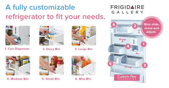 Frigidaire Gallery Custom-Flex Top Freezer Refrigerator