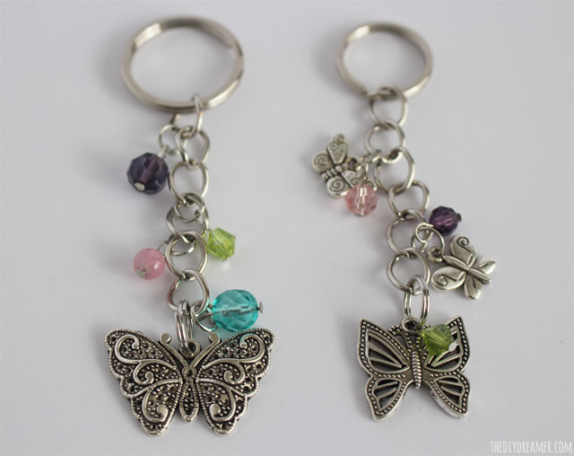 Beautiful Handmade Butterfly Beaded Keychain! This simple project makes a  great personalized gift! 3ef8830eb803