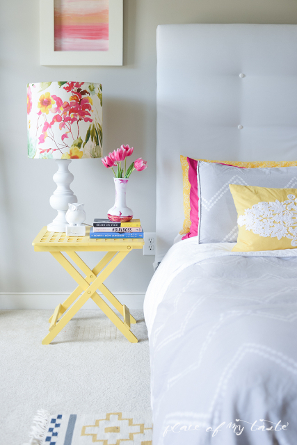 DIY Lamp Shade. Beautiful floral design!