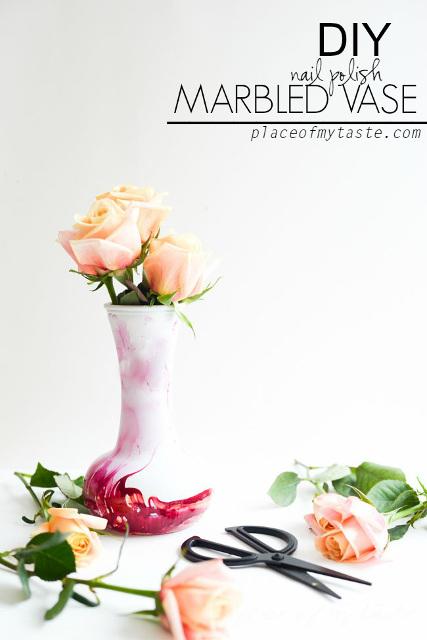 DIY Nail Polish Marbled Vase