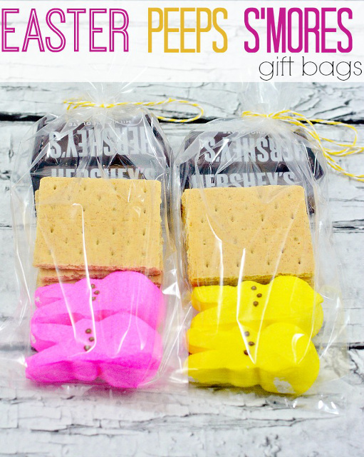 14 colorful easter and spring ideas fdtr 158 easter peeps smores gift bags negle Image collections