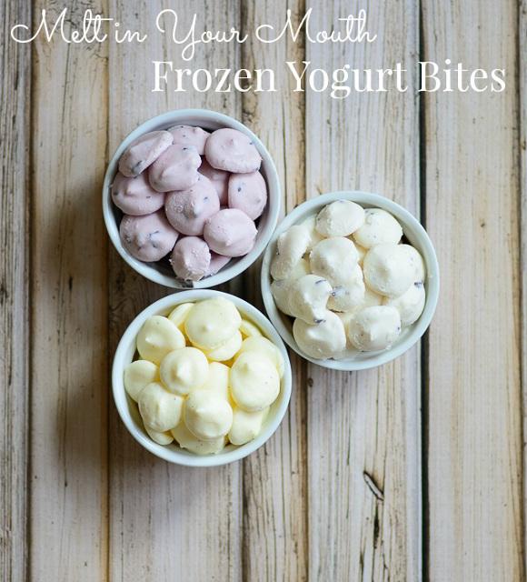 Melt in Your Mouth Frozen Yogurt Bites