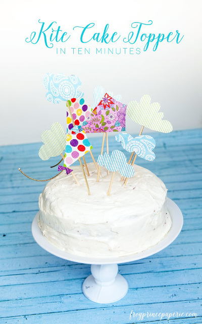 Kite-inspired Cake Topper