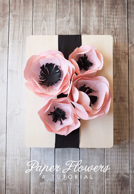 Paper Flower Tutorial, perfect to decorate gifts!