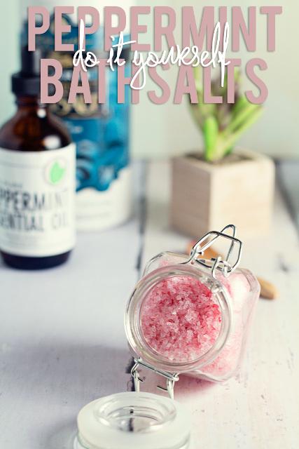 DIY Peppermint Bath Salts
