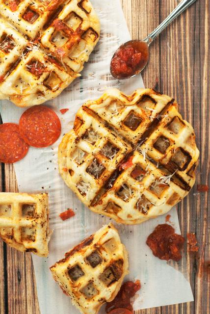 Pepperoni Pizza Waffles