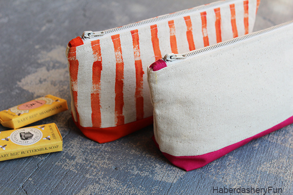 DIY Colorful Canvas Pouches