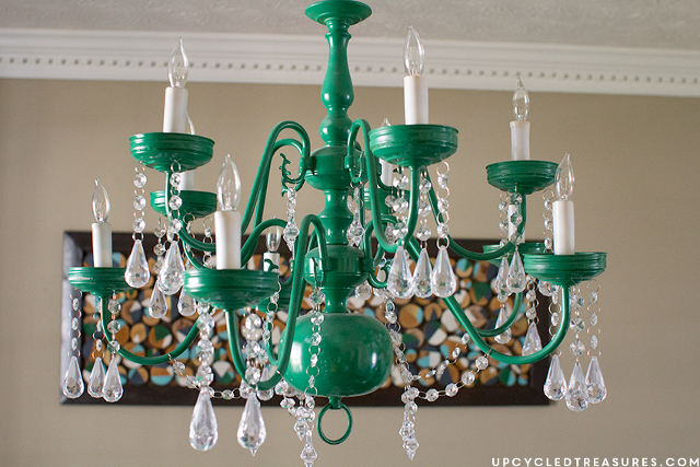 Upcycled Vintage-Inspired Chandelier