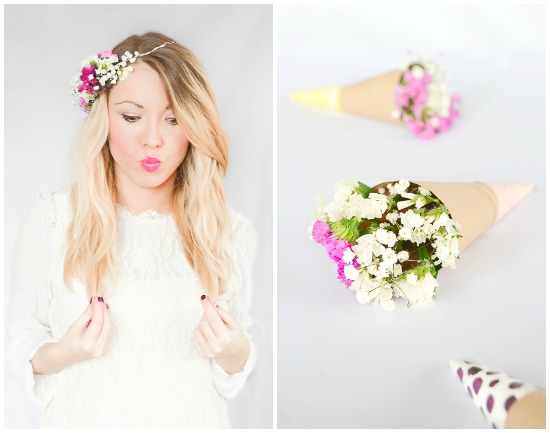 Floral Wreath and Floral Headband, perfect spring touch!