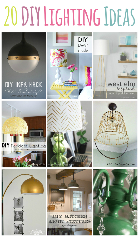 20+ DIY Lighting Ideas! Can't find the perfect lighting for your space? Have you thought about making your own light fixture? Check out these 20+ lighting ideas that you can make!