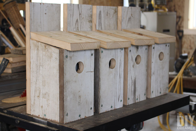 DIY Bluebird birdhouses. Learn how to build a bird house for bluebirds.