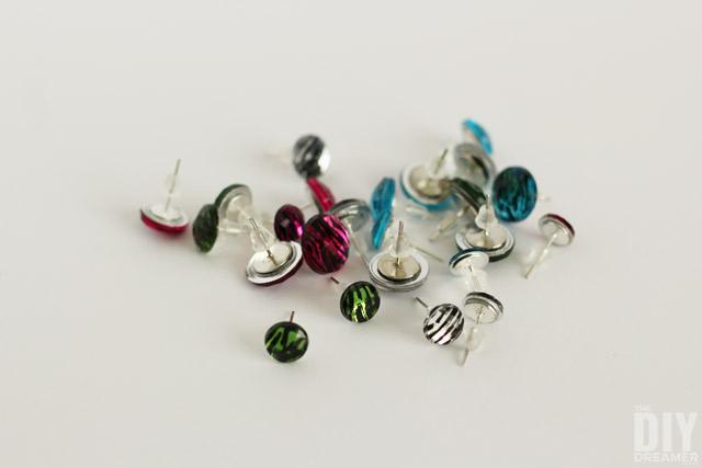 DIY Gem Stud Earrings