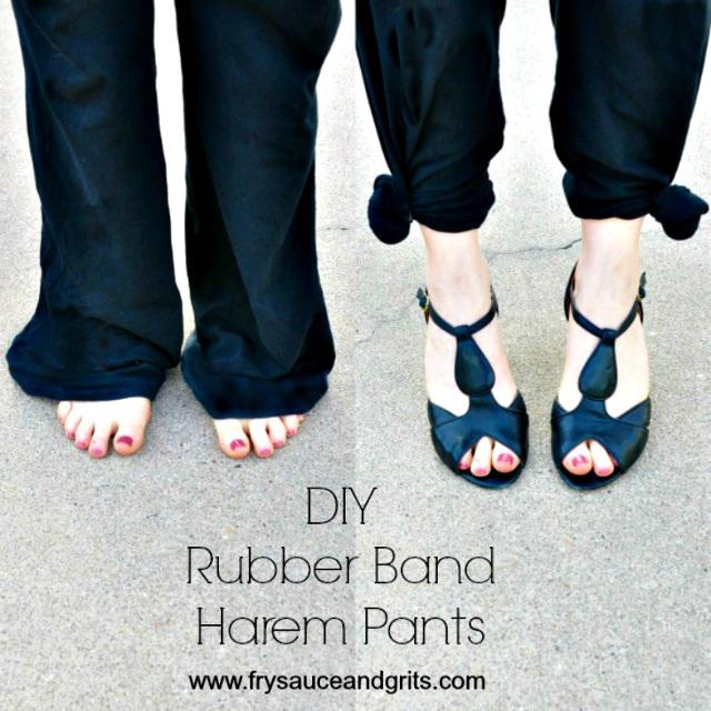 DIY Rubber Band Harem Pants