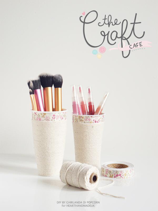 How to Make a Makeup Cup Organizer