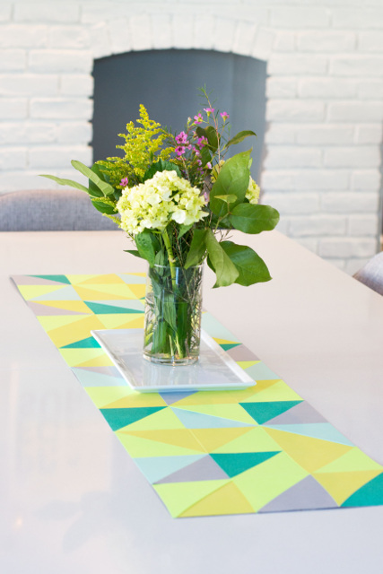 DIY Spring Paper Table Runner
