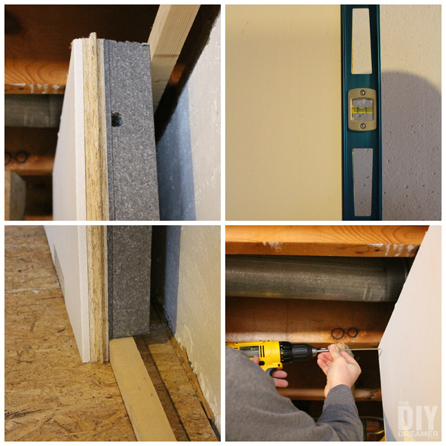 Make sure wall is straight and level before attaching the SMARTWALL.