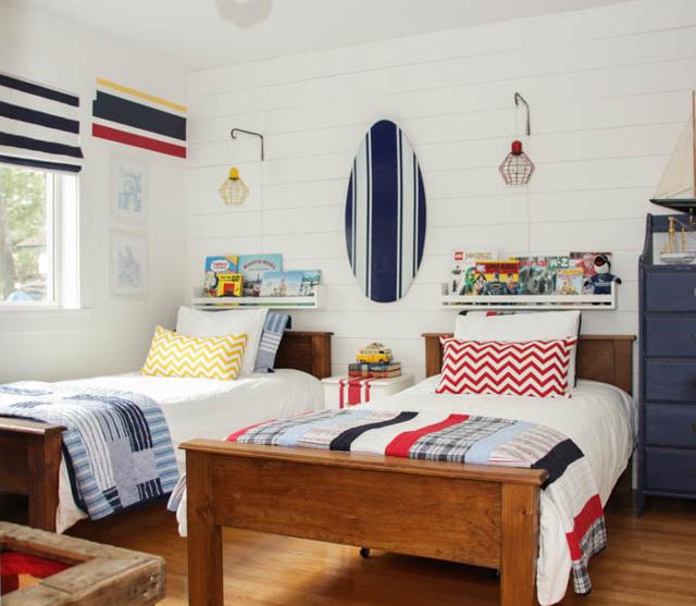 Nautical Camp Style Boys Bedroom