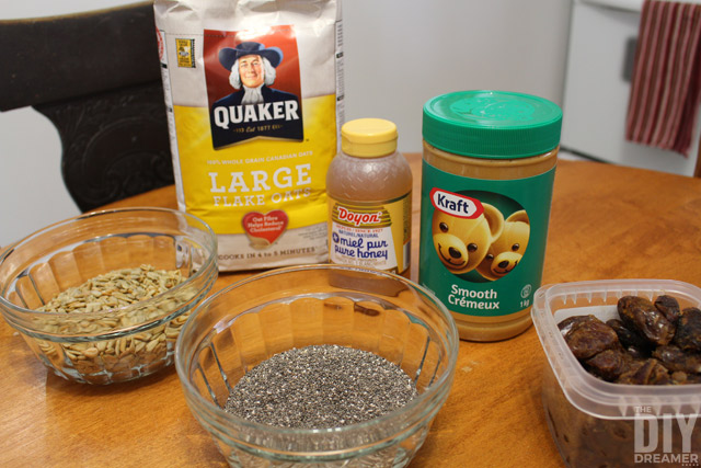 Peanut Butter Snack Bites Ingredients