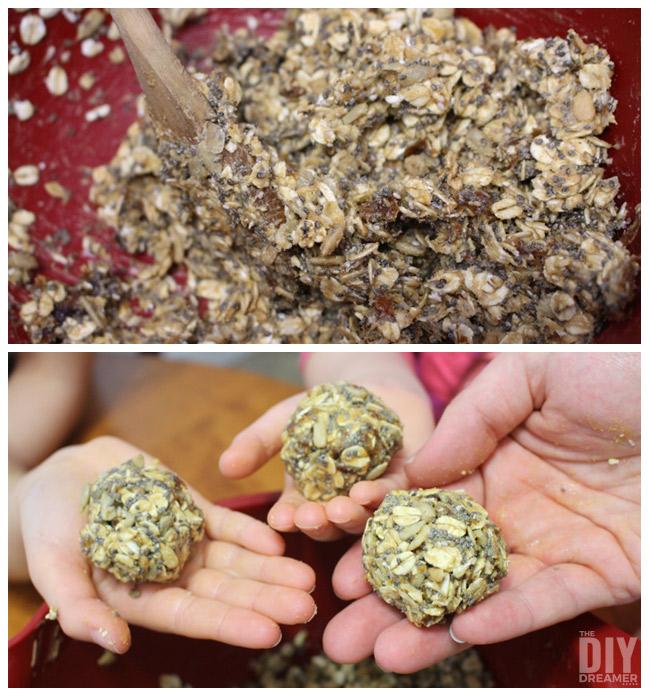 Roll mixture into balls