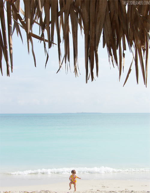 Dancing on the beach in Cuba.