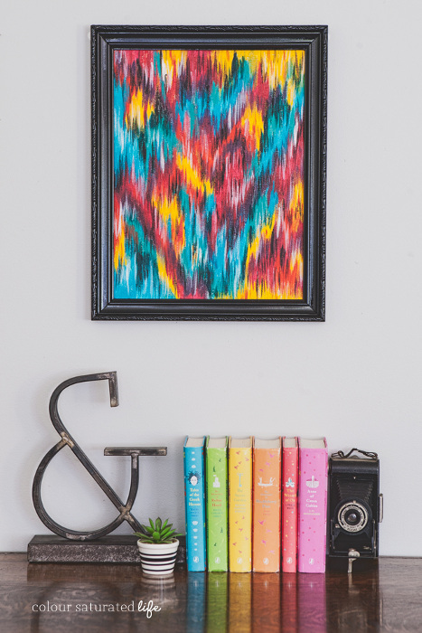Art Fix Upcycled Ikat Art