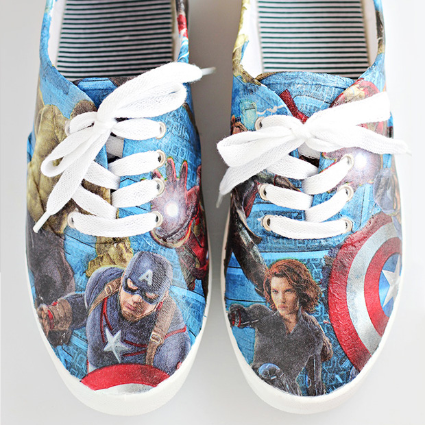 Craft Tutorial: DIY Avengers Superhero Shoes