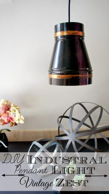 DIY Industrial Pendant Light