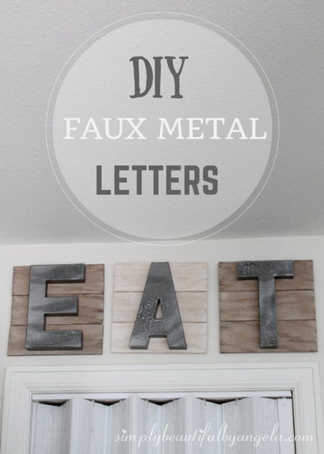 Luxury DIY Faux Metal Letters for the Kitchen