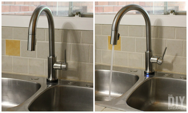 Delta Touch2O Faucet. This is the Trinsic Single Handle Pull-Down Kitchen Faucet Featuring Touch2O® Technology in Arctic Stainless.