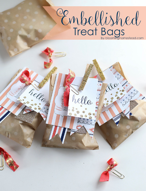 Embellished Treat Bags