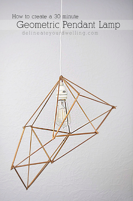 Stunning DIY Geometric Pendant Lamp