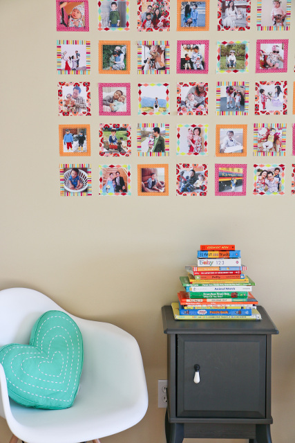 DIY Instagram Wall with Washi Tape