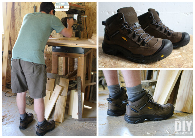 KEEN Utility work boots are perfect safety footwear for DIYers! Men's Braddock Mid AL WP work boots.