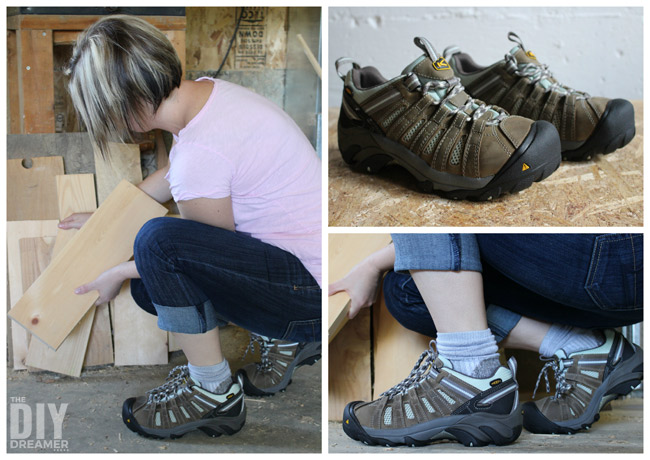 KEEN Utility work boots are perfect safety footwear for DIYers! Women's Flint Low work boots.