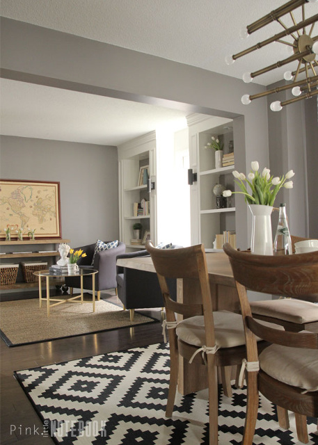 Combined Living and Dining Room Makeover