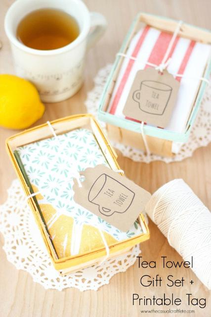 Tea Towel Gift Set with Free Printable Tag