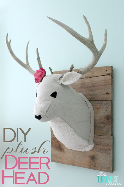 DIY Plush Deer Head. So Unique!