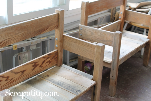 Reclaimed Wood and Headboard Outdoor Benches for the Deck