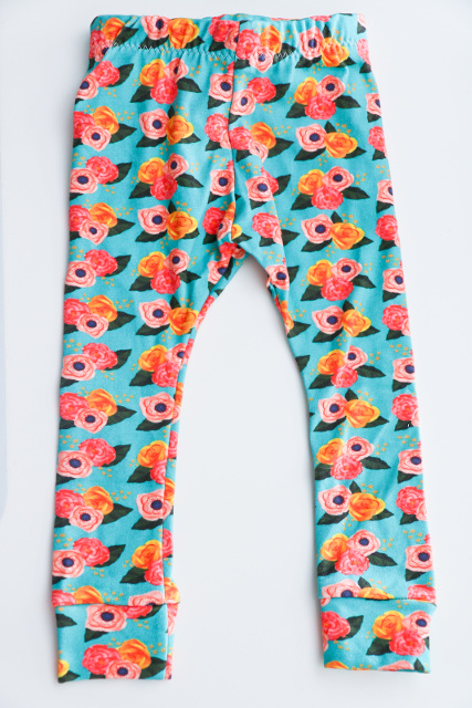 DIY Baby Leggings Floral Design