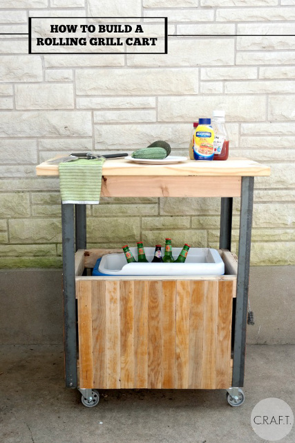 How to build a DIY grill cart