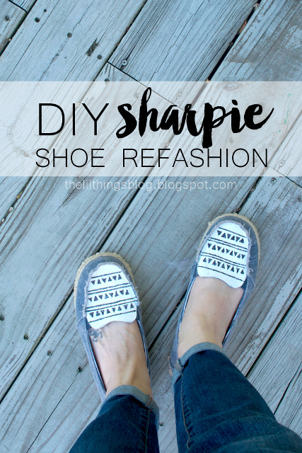 DIY Sharpie Shoe Refashion
