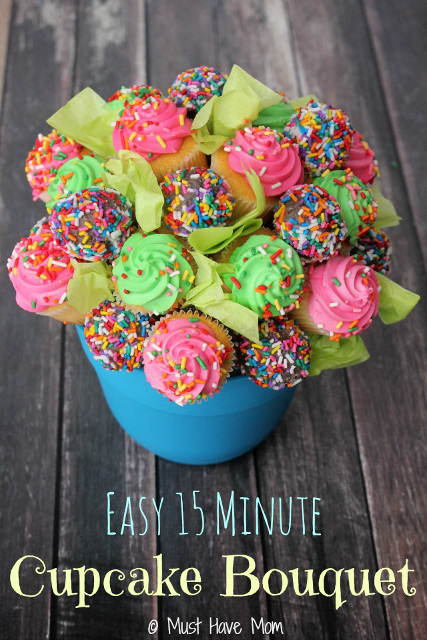 How To Make A 15 Minute Easy Cupcake Bouquet Birthday Gift