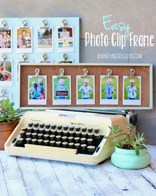 DIY Easy Clip Photo Frame